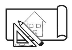 Technical drawing of a building image